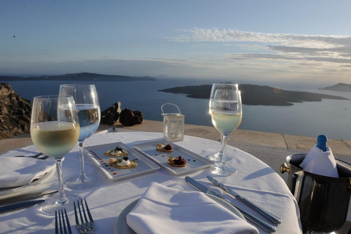 Summer dining in Greece
